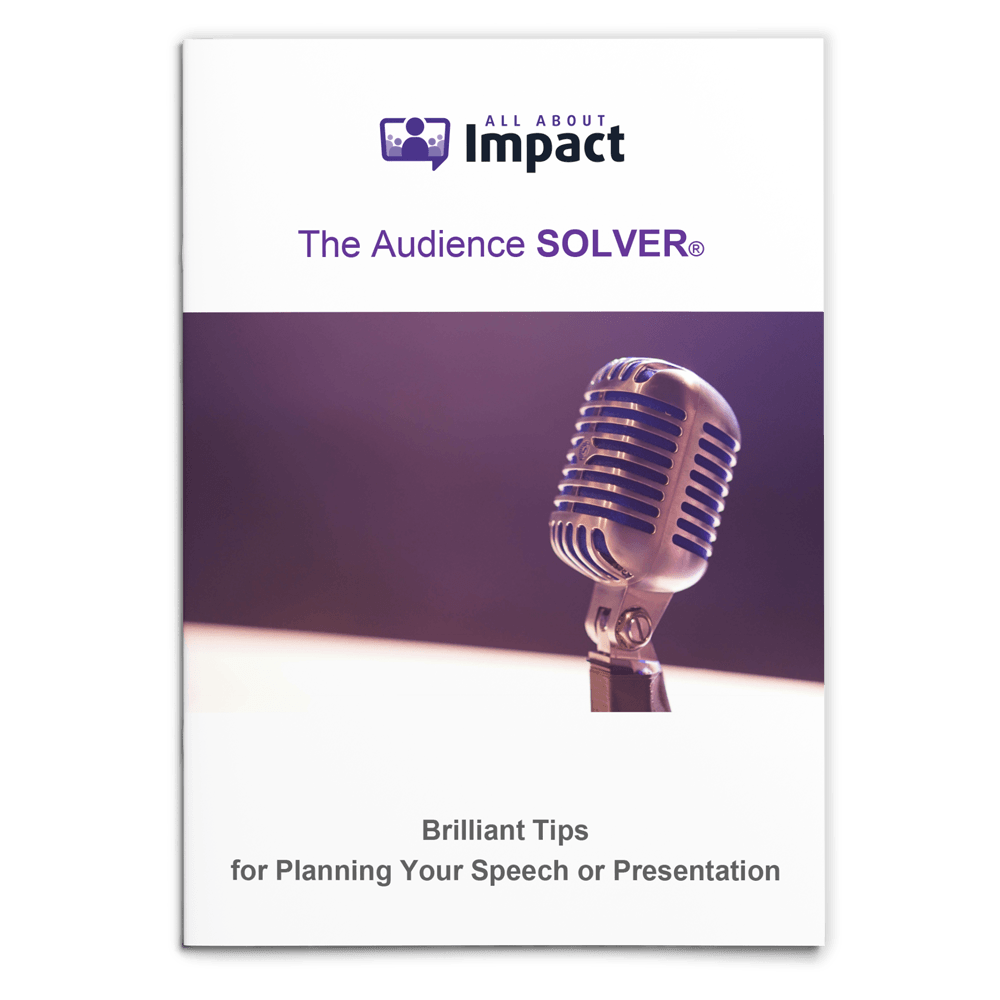 Free E-BookAudience Solver Image Oliver Medill Public Speaking Coach for All About Impact